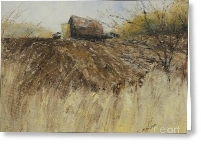 Ploughed Field Greeting Card by Steve Knapp