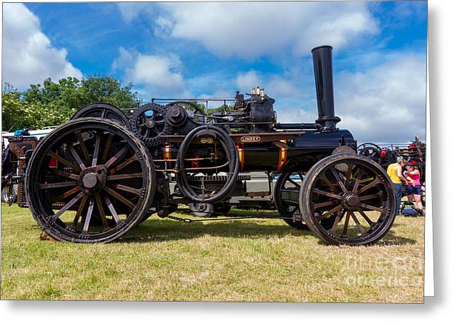 Ploughing Engine  Greeting Card by Christopher Kelly