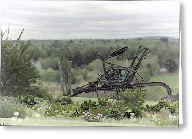 Plowing Through The Past Greeting Card by Richard Bean