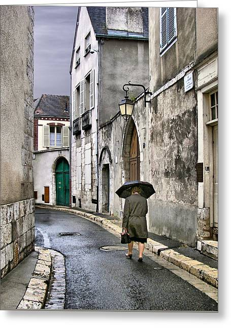 Pluie A Chartres - 1 Greeting Card by Nikolyn McDonald
