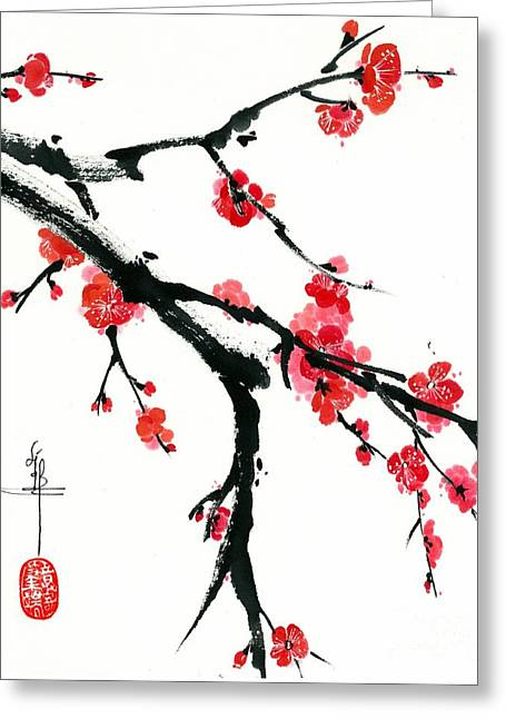 Plum Branch Greeting Card