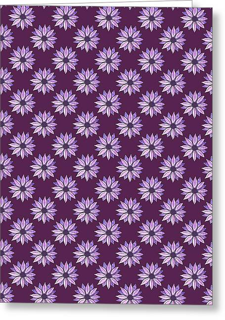 Plum Daisies Greeting Card by Jenny Armitage