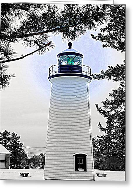 Plum Island Light Greeting Card