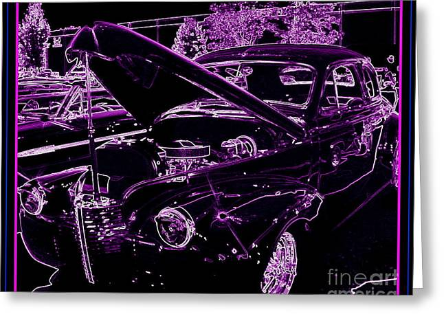 Greeting Card featuring the digital art Plum Perfect by Bobbee Rickard