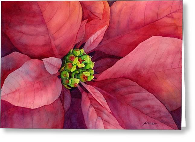 Plum Poinsettia Greeting Card