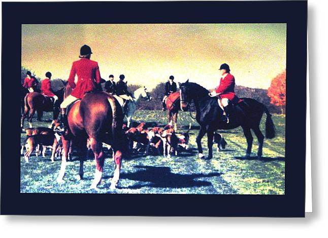 Greeting Card featuring the photograph Plum Run Hunt Opening Day by Angela Davies