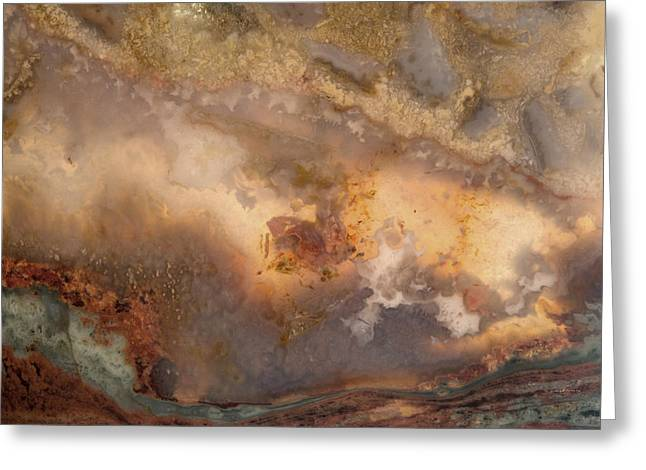 Plume Waves In Stone Greeting Card by Leland D Howard