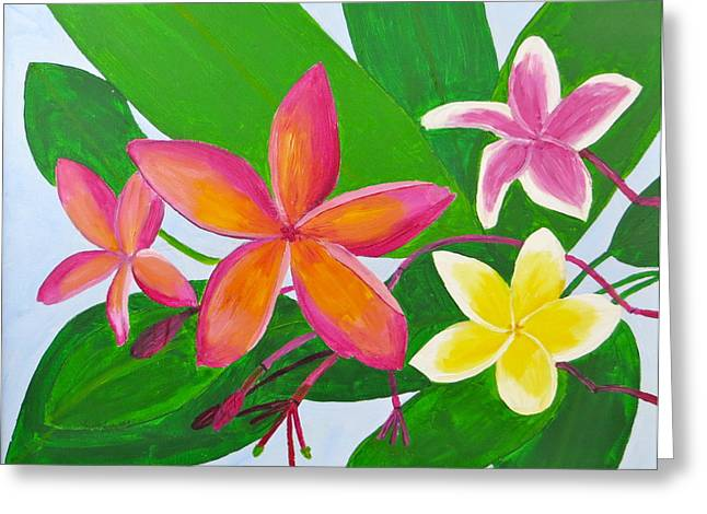 Plumerias Greeting Card