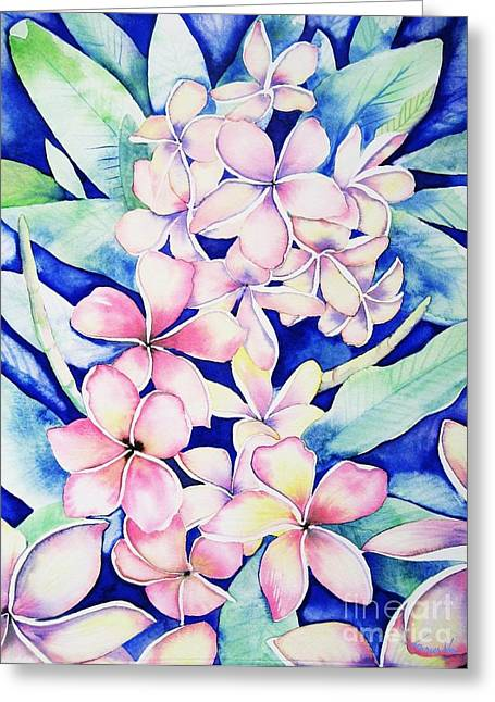Plumerias Of Maui Greeting Card