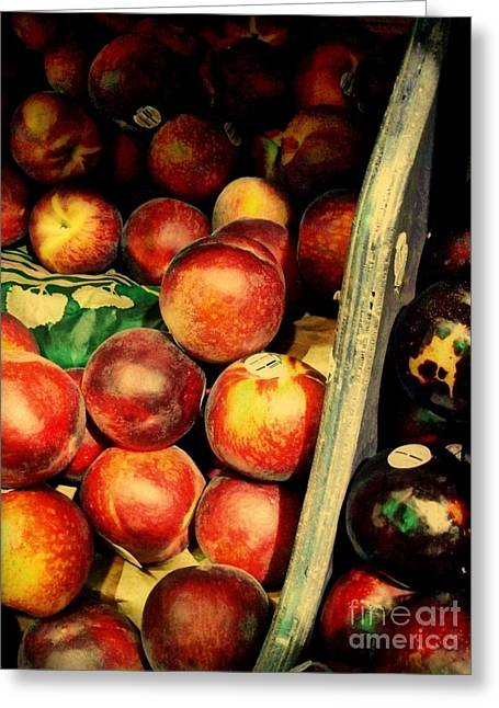 Plums And Nectarines Greeting Card by Miriam Danar