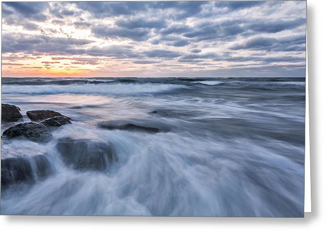 Plunge Into The Blue Greeting Card by Jon Glaser