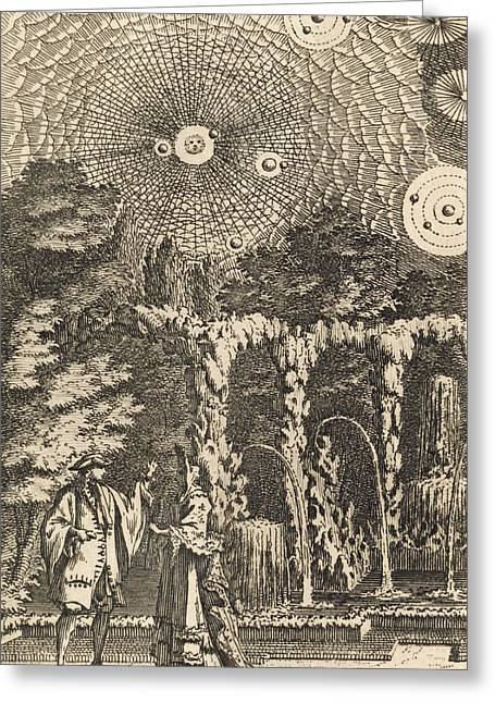 Plurality Of Worlds By Fontenelle, 1686 Greeting Card by Science Photo Library
