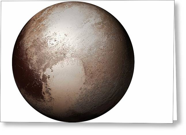Pluto From Space Greeting Card