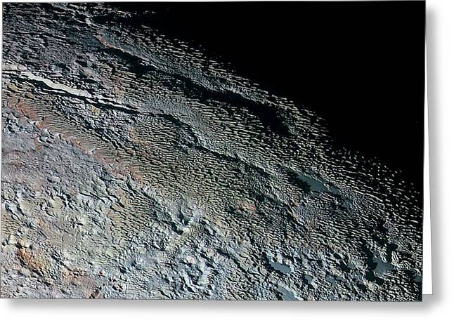 Pluto's Surface Greeting Card