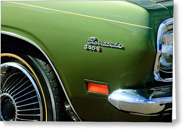Plymouth Barracuda 340-s Emblem Greeting Card