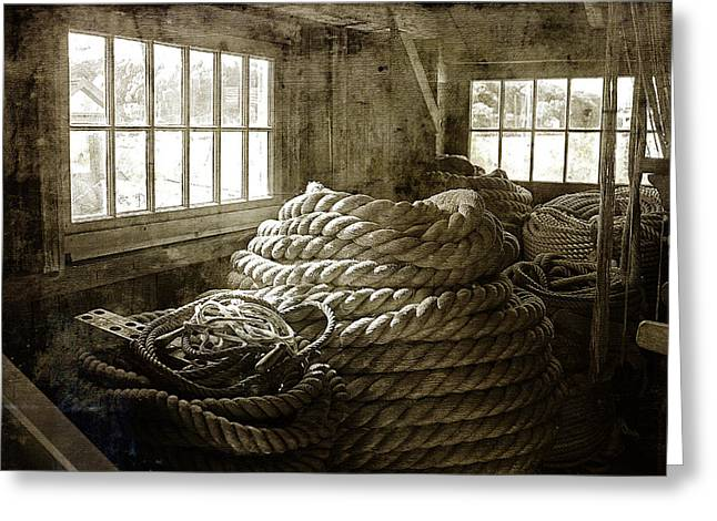 Plymouth Cordage Company Ropewalk Greeting Card