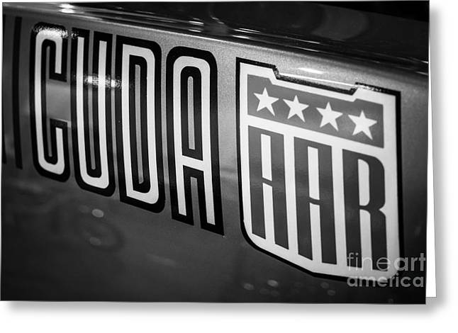 Plymouth Cuda Aar Decal Greeting Card