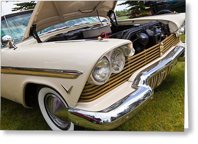 Plymouth Fury Cream Greeting Card by Mick Flynn
