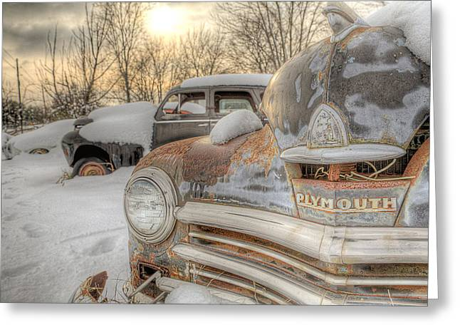 Greeting Card featuring the photograph Plymouth by Micah Goff