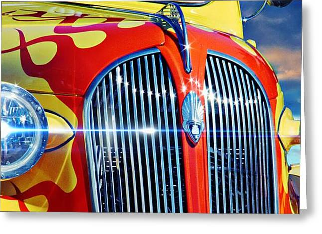 Vehicles Greeting Card featuring the photograph Plymouth Oldie by Aaron Berg