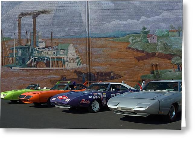 Plymouth Superbirds And Dodge  Daytonas Greeting Card