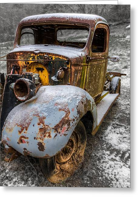 Plymouth Truck Greeting Card by Debra and Dave Vanderlaan