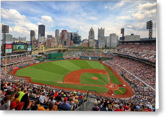 Pnc Park 2014 Greeting Card by Emmanuel Panagiotakis
