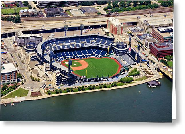 Pnc Park Aerial 2 Greeting Card by Mattucci Photography