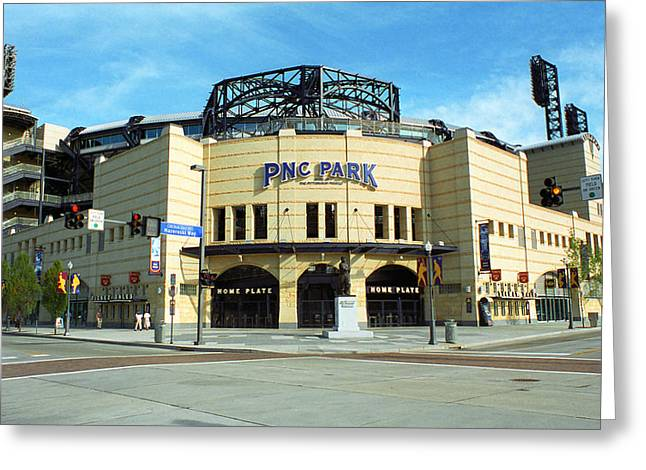 Pnc Park - Pittsburgh Pirates Greeting Card by Frank Romeo