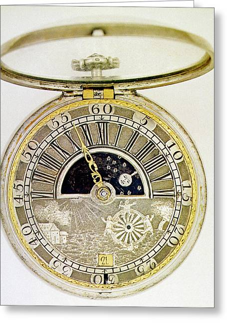 Pocket Watch, C1700 Greeting Card by Granger