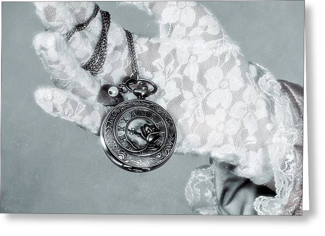 Pocket Watch Greeting Card by Joana Kruse