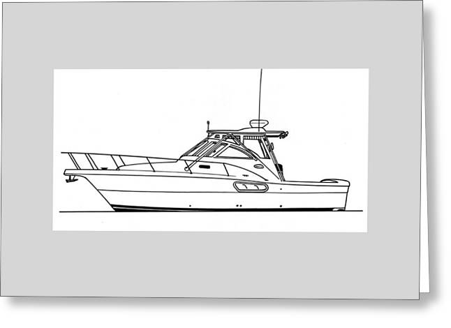 Pocket Yacht Profile Greeting Card by Jack Pumphrey