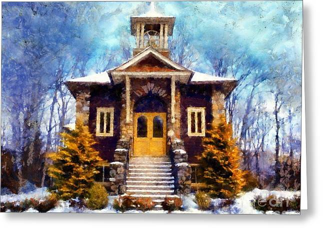Poconos Country Church Greeting Card by Janine Riley