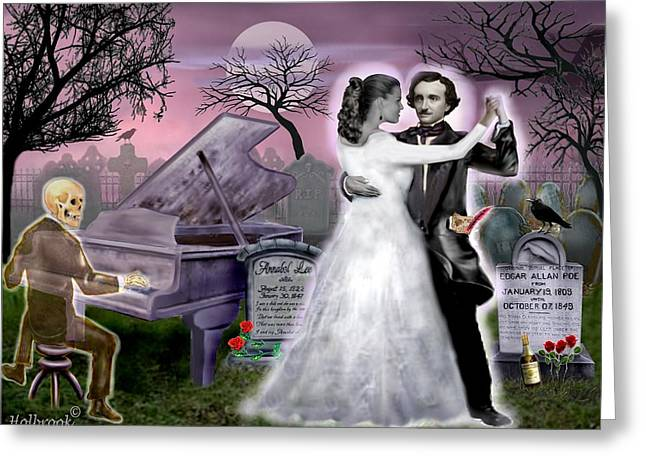 Poe And Annabel Lee Eternally Greeting Card by Glenn Holbrook