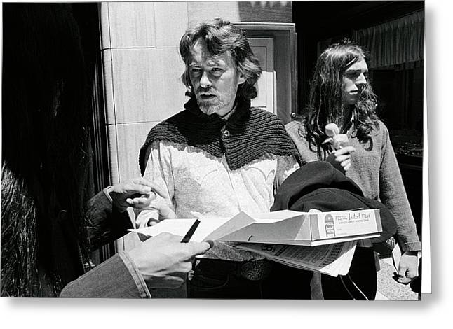 Poet Michael Mcclure Greeting Card