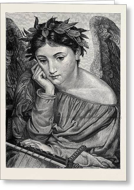 Poetry, From The Picture By E.j. Poynter Greeting Card by English School