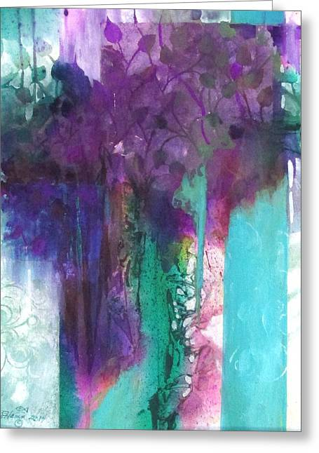 Poetry Is Painting Greeting Card by Patricia Mayhew Hamm
