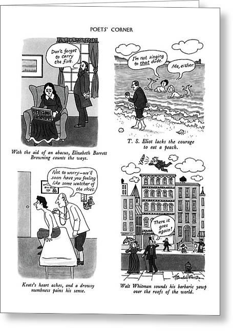 Poets' Corner Greeting Card by J.B. Handelsma