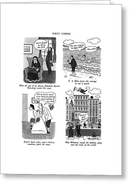 Poets' Corner Greeting Card by J.B. Handelsman
