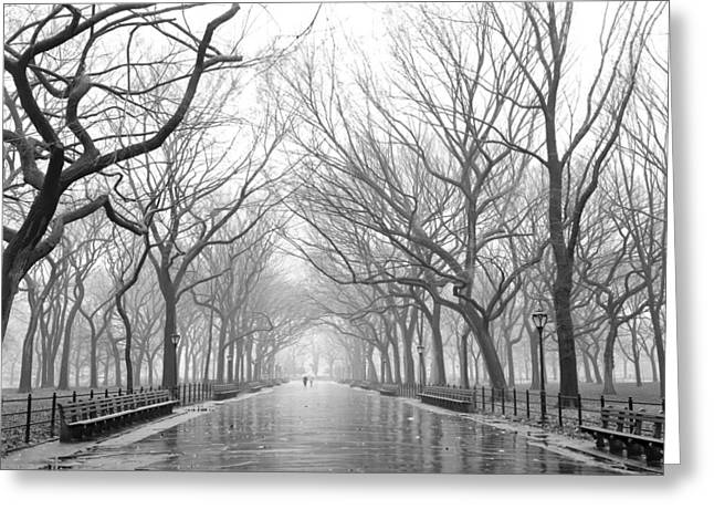 Greeting Card featuring the photograph New York City - Poets Walk Central Park by Dave Beckerman