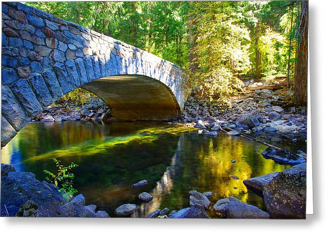 Pohono Bridge Yosemite National Park Greeting Card