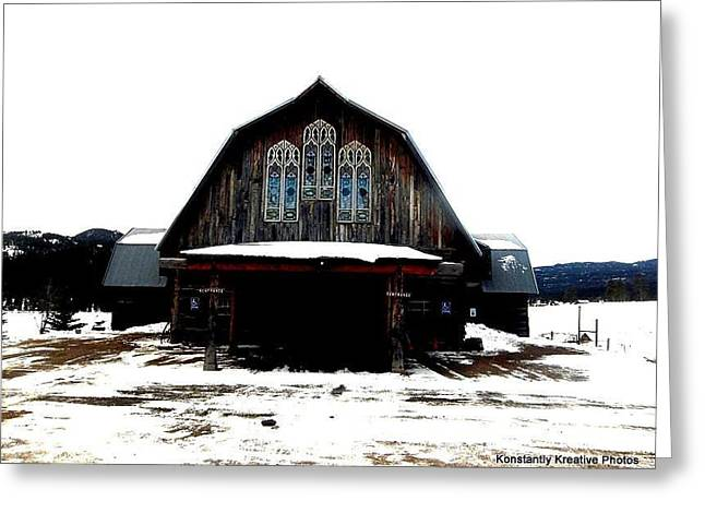 Poineer Church Greeting Card by Misty Herrick
