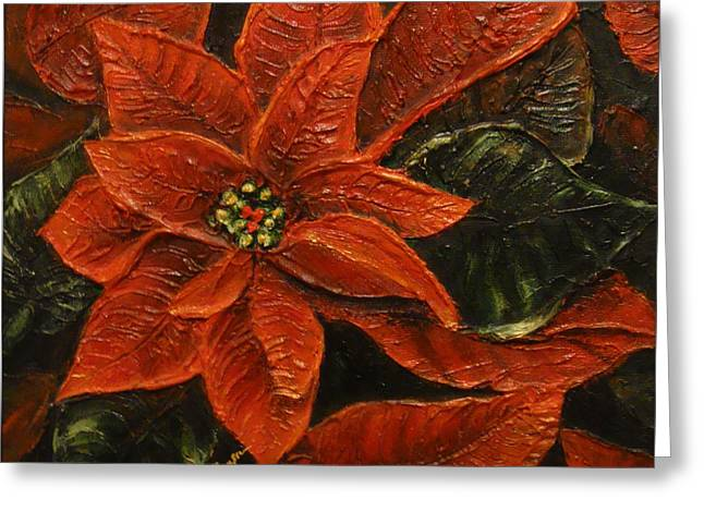 Poinsettia 2 Greeting Card