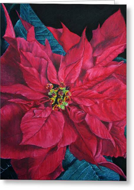 Poinsettia II Painting Greeting Card