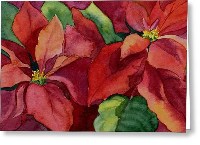 Poinsettia Greeting Card by Vikki Bouffard