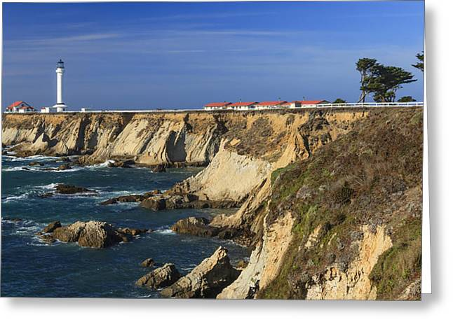 Point Arena Lighthouse Greeting Card by Karma Boyer