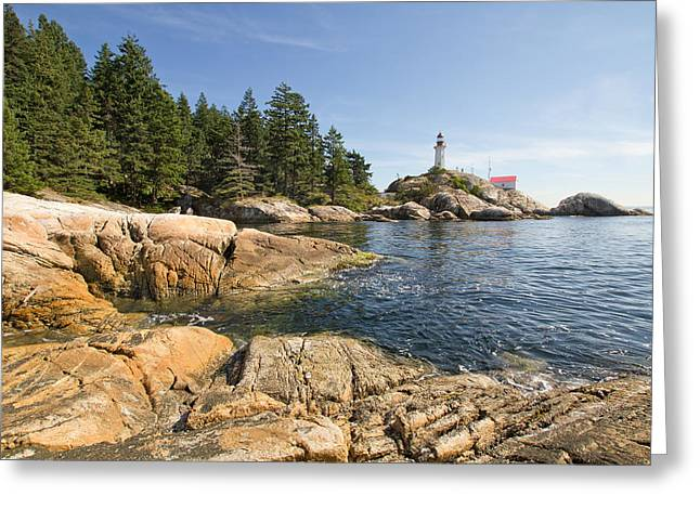 Greeting Card featuring the photograph Point Atkinson Lighthouse In Vancouver Bc by JPLDesigns