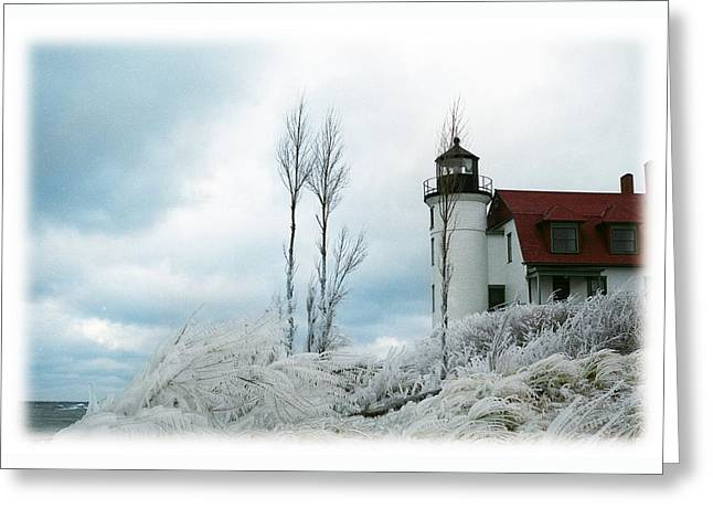 Point Betsie Lighthouse In Michigan Greeting Card