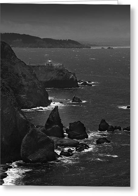 Point Bonita Light Greeting Card by Mike McGlothlen