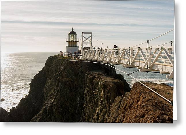 Point Bonita Lighthouse Greeting Card by Georgia Fowler